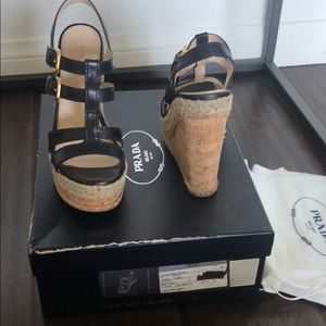 Prada wedge heel size 36